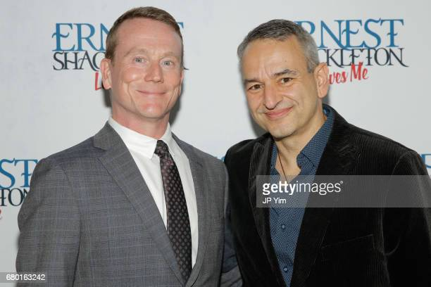 Derek McCracken and Joe DiPietro attend the OffBroadway opening of 'Ernest Shackleton Loves Me' at the Tony Kiser Theatre on May 7 2017 in New York...