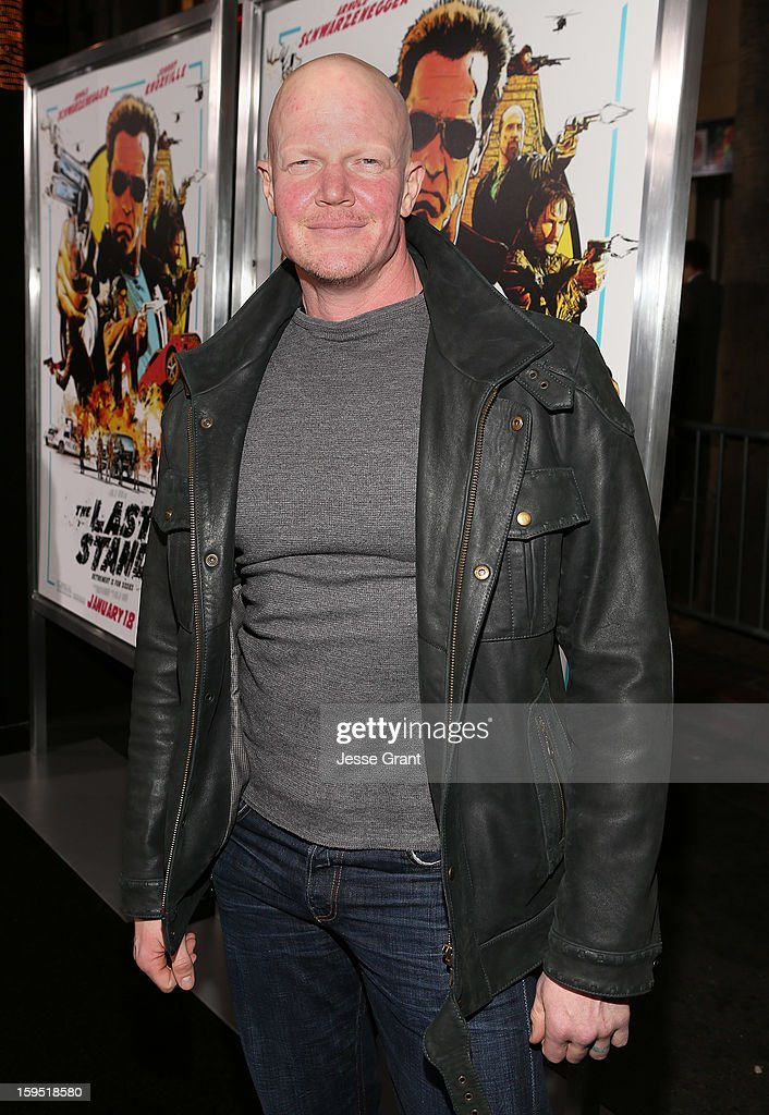 <a gi-track='captionPersonalityLinkClicked' href=/galleries/search?phrase=Derek+Mears&family=editorial&specificpeople=5658397 ng-click='$event.stopPropagation()'>Derek Mears</a> attends 'The Last Stand' World Premiere at Grauman's Chinese Theatre on January 14, 2013 in Hollywood, California.