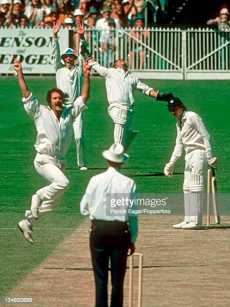 Derek Randall caught Rodney Marsh bowled Dennis Lillee Australia v England Centenary Test Melbourne Mar 197677