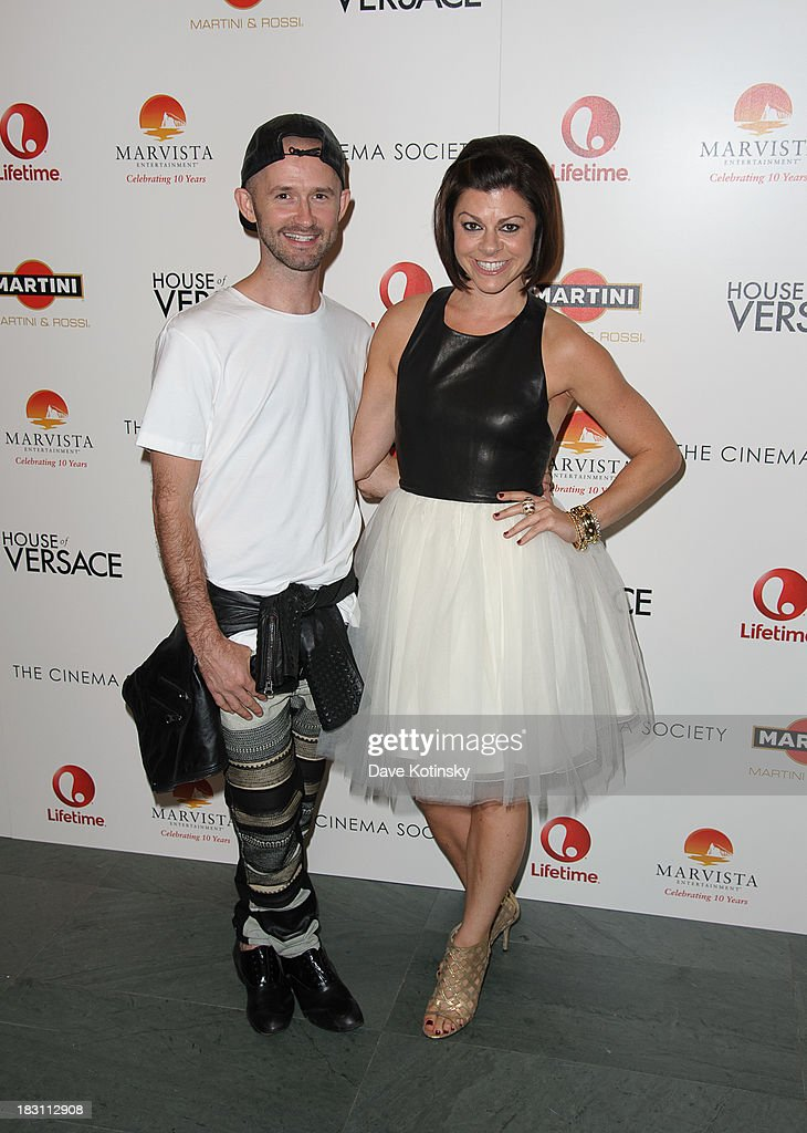 Derek Roche and Amy Salinger attends Marvista Entertainment And Lifetime With The Cinema Society Host A Screening Of 'House Of Versace' at MOMA on October 3, 2013 in New York City.