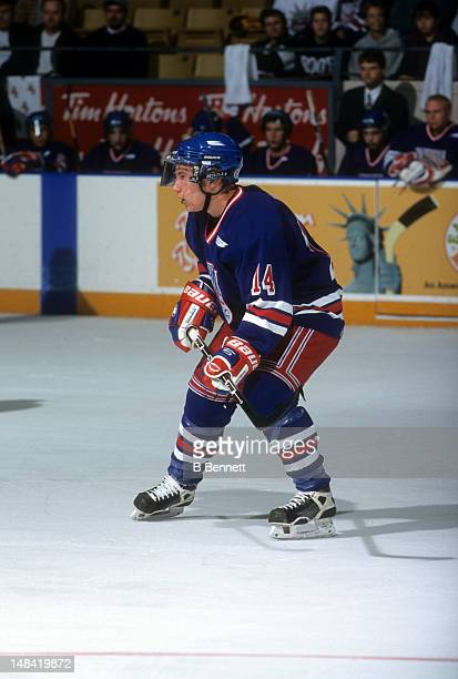 Derek Roy of the Kitchener Rangers skates on the ice during an OHL game in October 1999