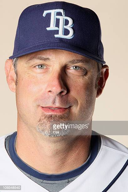 Derek Shelton of the Tampa Bay Rays poses for a portrait during the Tampa Bay Rays Photo Day on February 22 2011 at the Charlotte Sports Complex in...