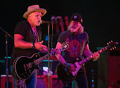 Derek St Holmes and Brad Whitford of Whitford/St Holmes performs live onstage at Old National Centre on June 8 2016 in Indianapolis Indiana