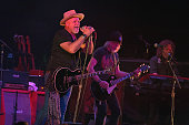 Derek St Holmes Brad Whitford and Buck Johnson of Whitford/St Holmes performs live onstage at Old National Centre on June 8 2016 in Indianapolis...