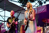 Derek Trucks and Susan Tedeschi of Tedeschi Trucks Band performs onstage at Waterfront Blues Festival at Tom McCall Waterfront Park on July 1 2016 in...