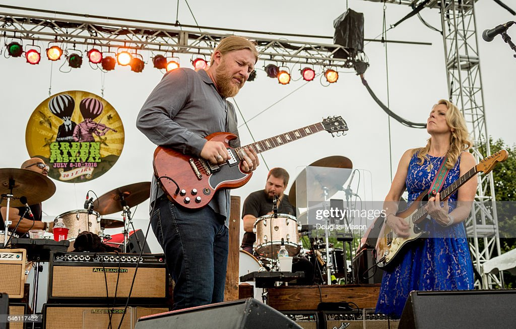 Derek Trucks and Susan Tedeschi of the Tadeschi Trucks Band perform during the 30th Annual Green River Festival at Greenfield Community College on...