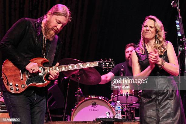 Derek Trucks and Susan Tedeschi of the Tedeschi Trucks Band perform at Ryman Auditorium on March 3 2016 in Nashville Tennessee