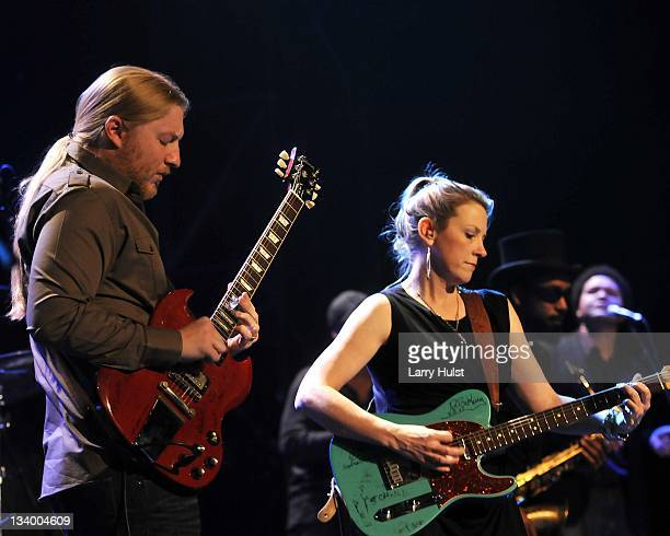Derek Trucks and Susan Tedeschii performing with the 'Tedeshi and Trucks Band' with the at the Fillmore Auditorium in Denver Colorado on November 18...