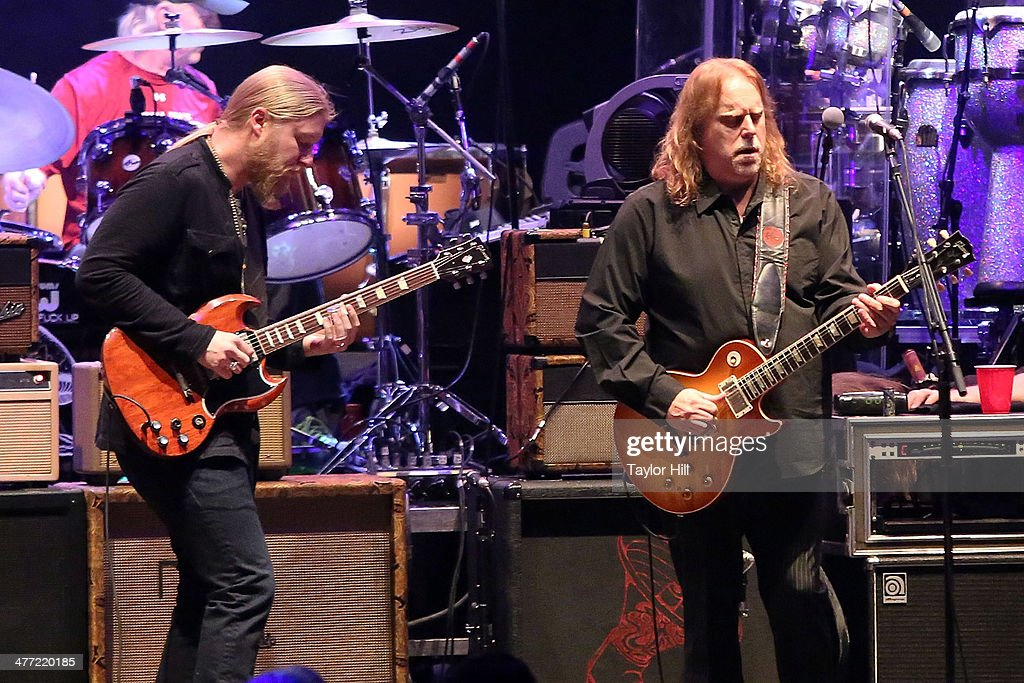 Derek Trucks and Warren Haynes of The Allman Brothers Band performs in concert at Beacon Theatre on March 7, 2014 in New York City.