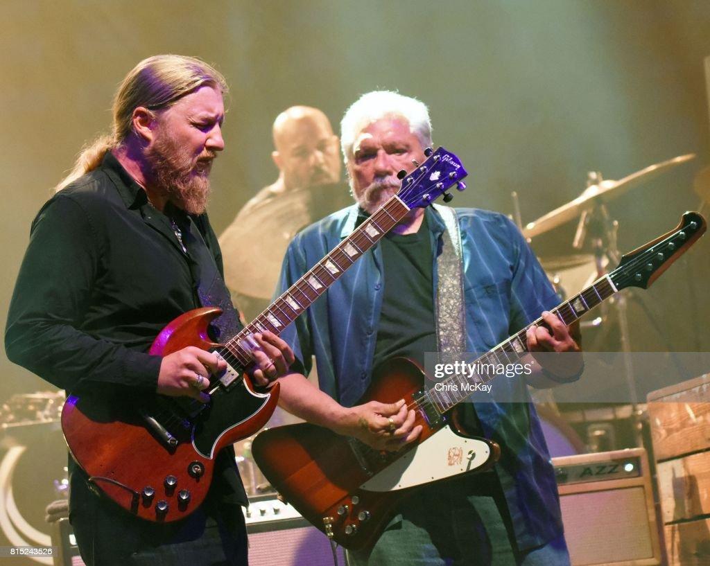 Derek Trucks of Tedeschi Trucks Band and Jorma Kaukonen of Hot Tuna perform at The Fox Theatre on July 15, 2017 in Atlanta, Georgia.