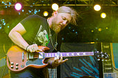 Derek Trucks of Tedeschi Trucks Band performs onstage at Waterfront Blues Festival at Tom McCall Waterfront Park on July 1 2016 in Portland Oregon