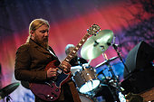 Derek Trucks of Tedeschi Trucks Band performs the 2015 Central Park Summerstage Tedeschi Trucks Band With Spirit Family Reunion at Rumsey Playfield...