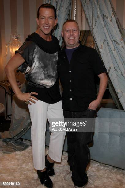Derek Warburton and James Murray attend New London Luxe Hosted by Derek Loves Shopping and Chic Unique New York at New London Luxe on December 10...