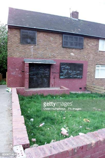 A derelict house on Martin Road in the Howden area of Wallsend North Tyneside where some of the seven teenagers were found after taking a cocktail of...