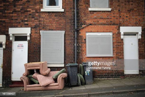 Derelict houses in the Cobridge area of StokeOnTrent that are being sold by the council for one GBP on April 23 2013 in StokeOnTrent England...