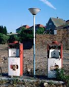 Derelict petrol pumps