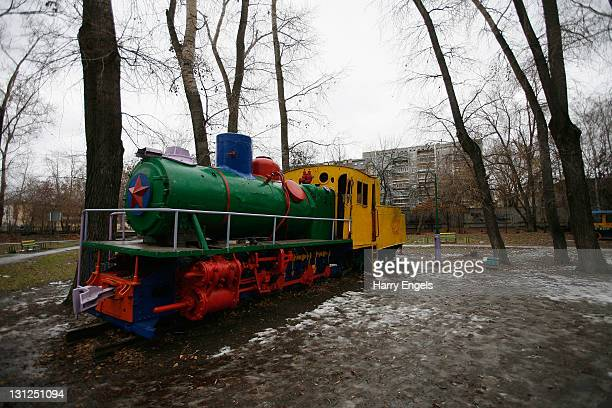 A derelict playground in the 'Engels' park on November 3 2011 in Yekaterinburg Russia Yekaterinburg is one of thirteen cities proposed as a host city...