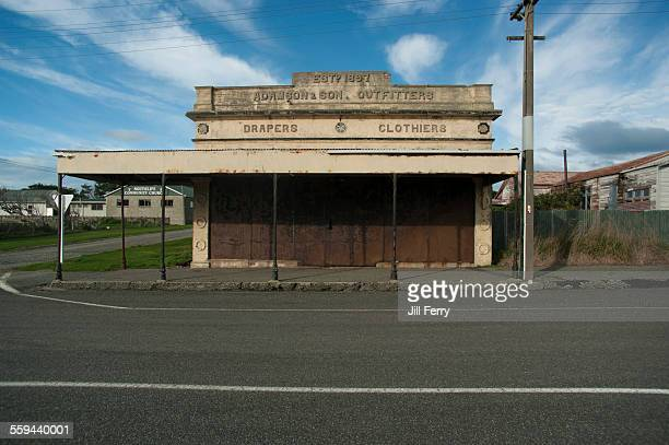 Derelict shop in the small rural town of Orepuki in Southland
