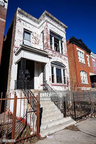 Derelict ビクトリア様式の家ガーフィールドパークを東に進み、シカゴ