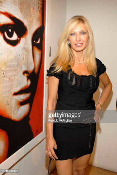 Dereza Romanelli attends Opera Gallery Opening Voigt Monet and Vukelic at Opera Gallery on April 15 2010 in New York City