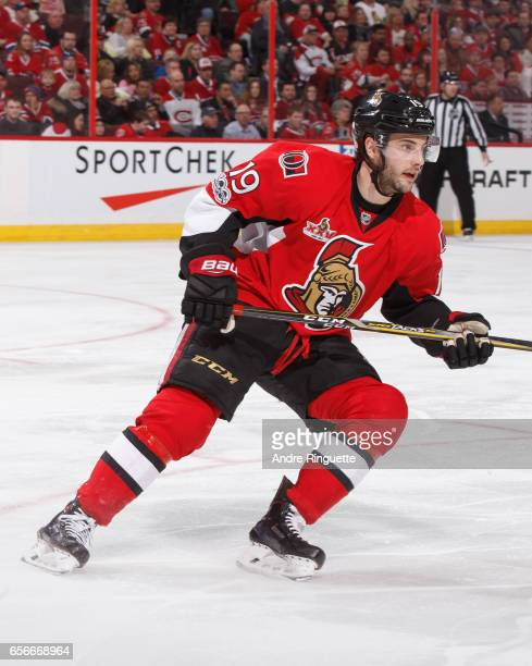 Derick Brassard of the Ottawa Senators skates against the Montreal Canadiens at Canadian Tire Centre on March 18 2017 in Ottawa Ontario Canada