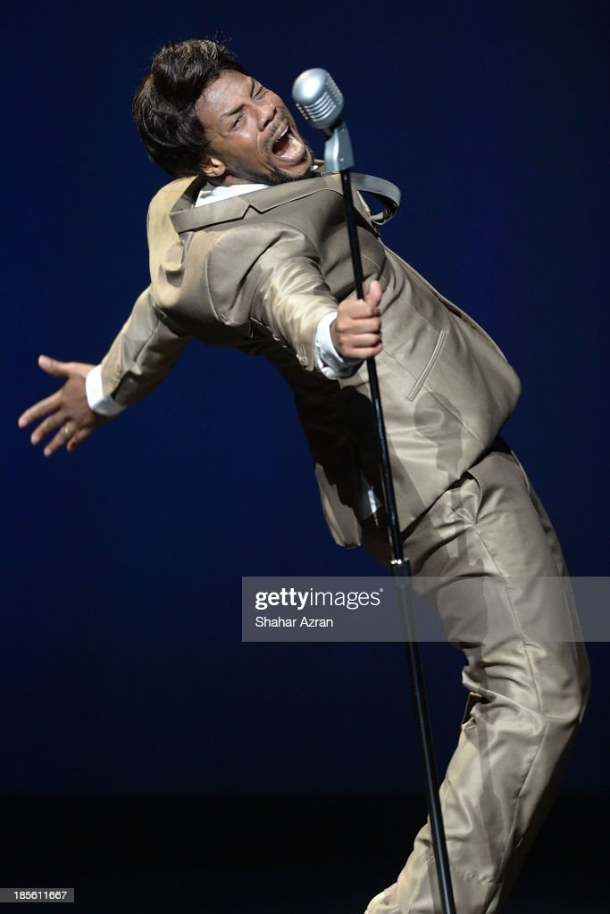 Derick Grant performs during the opening night of 'James Brown: Get On The Good Foot - A Celebration in Dance' at The Apollo Theater on October 22, 2013 in New York City.