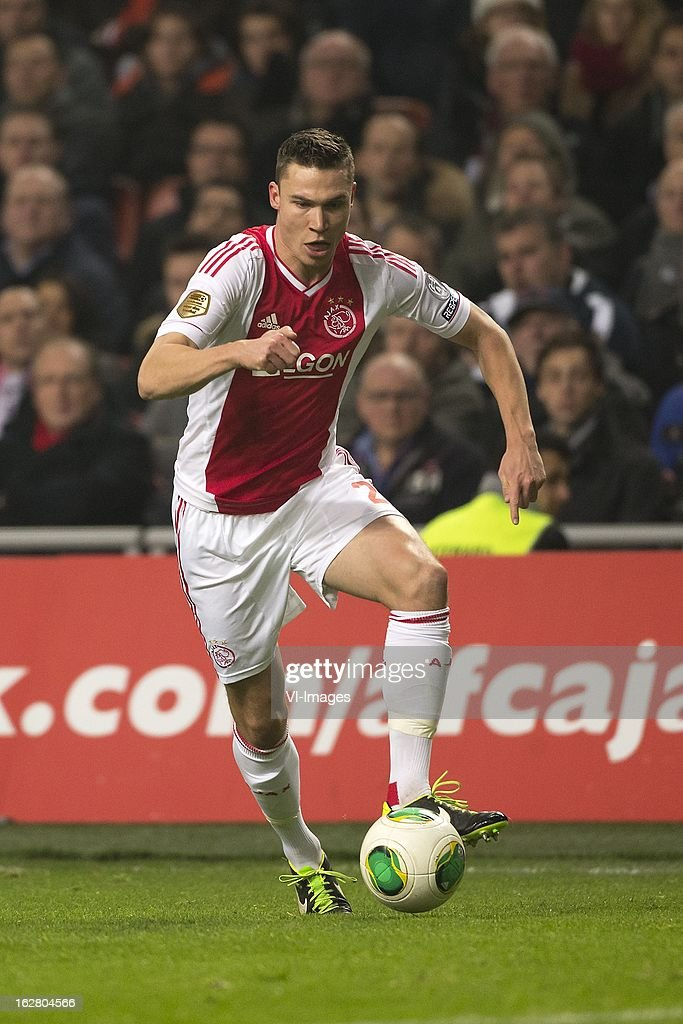 Derk Boerrigter of Ajax during the Dutch Cup match between Ajax Amsterdam and AZ Alkmaar at the Amsterdam Arena on february 27, 2013 in Amsterdam, The Netherlands