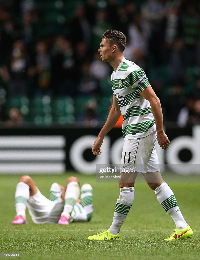 <a gi-track='captionPersonalityLinkClicked' href=/galleries/search?phrase=Derk+Boerrigter&family=editorial&specificpeople=8003354 ng-click='$event.stopPropagation()'>Derk Boerrigter</a> of Celtic reacts at the final whistle during the UEFA Champions League Qualifying Play-Offs Round, Second Leg Match between Celtic and Maribor, at Celtic Park on August 26, 2014 Glasgow, Scotland.