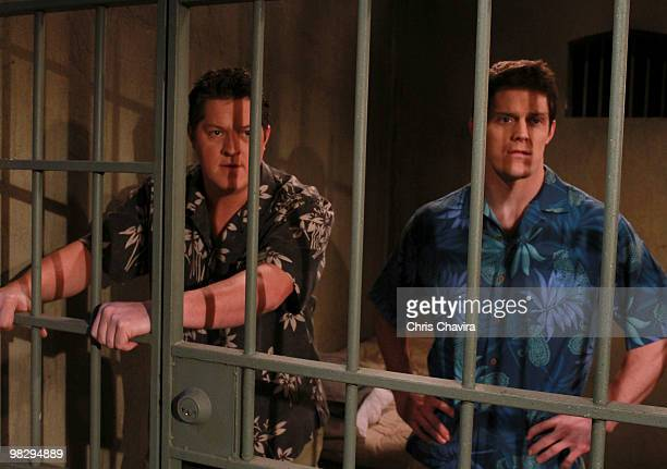 HOSPITAL Derk Cheetwood and Drew Cheetwood in a scene that airs the week of April 19 2010 on ABC Daytime's 'General Hospital' 'General Hospital' airs...