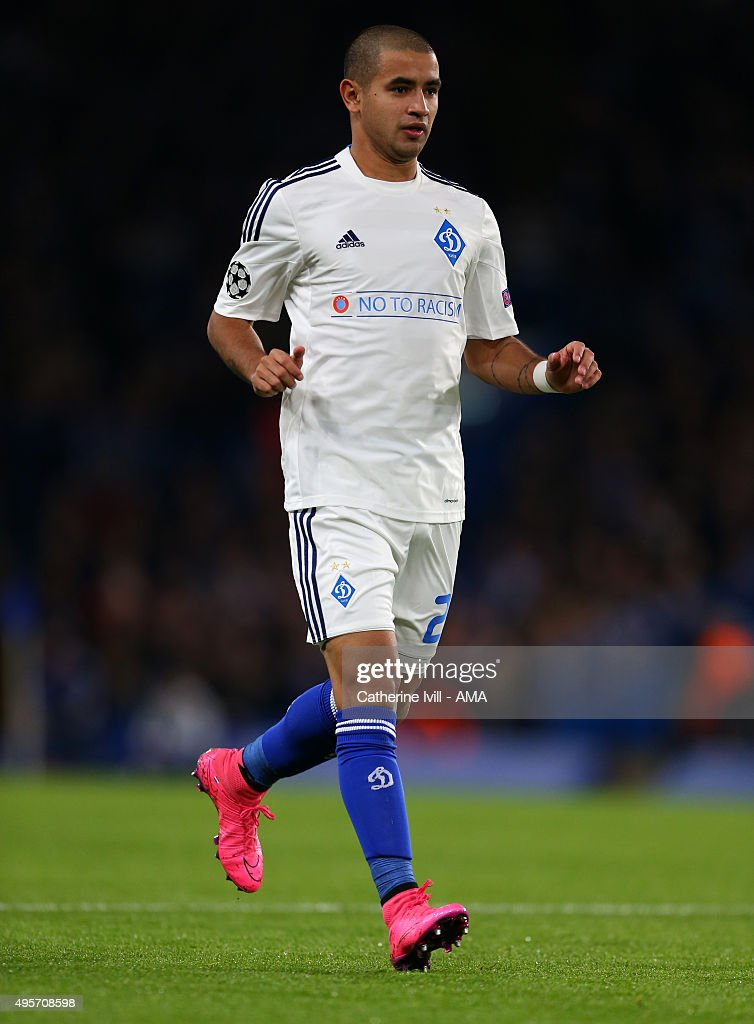Derlis Gonzalez of Dynamo Kiev during the UEFA Champions League Group G match between Chelsea and Dynamo Kyiv at Stamford Bridge on November 4, 2015 in London, United Kingdom.