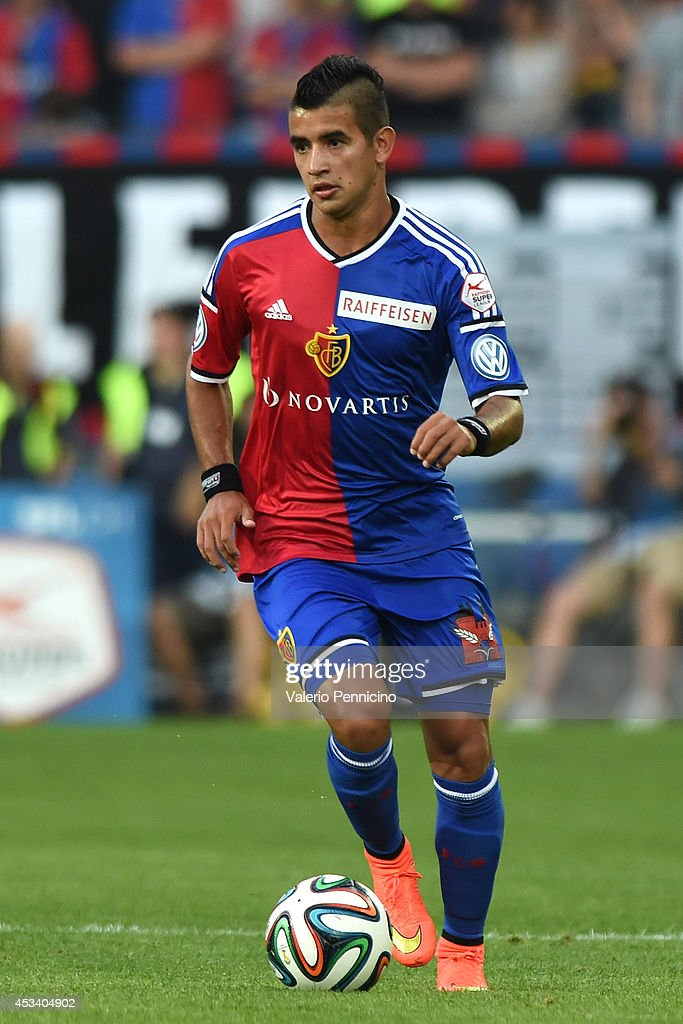 Derlis Gonzalez of FC Basel in action during the Raiffeisen Super League match between FC Basel and FC Zurich at St. Jakob-Park on August 9, 2014 in Basel, Switzerland.