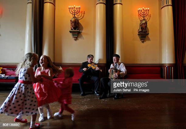 Dermot McLoughlin CEO of the Temple Bar Trust and the King of Tory Island Dan Patsy Mac Ruairi and play music for children Aliesha Smith Hazel...
