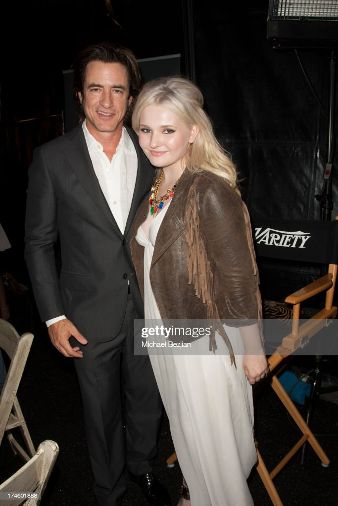 <a gi-track='captionPersonalityLinkClicked' href=/galleries/search?phrase=Dermot+Mulroney&family=editorial&specificpeople=208776 ng-click='$event.stopPropagation()'>Dermot Mulroney</a> and <a gi-track='captionPersonalityLinkClicked' href=/galleries/search?phrase=Abigail+Breslin&family=editorial&specificpeople=226628 ng-click='$event.stopPropagation()'>Abigail Breslin</a> attend Flips Audio At Variety Power of Youth at Universal Studios Backlot on July 27, 2013 in Universal City, California.