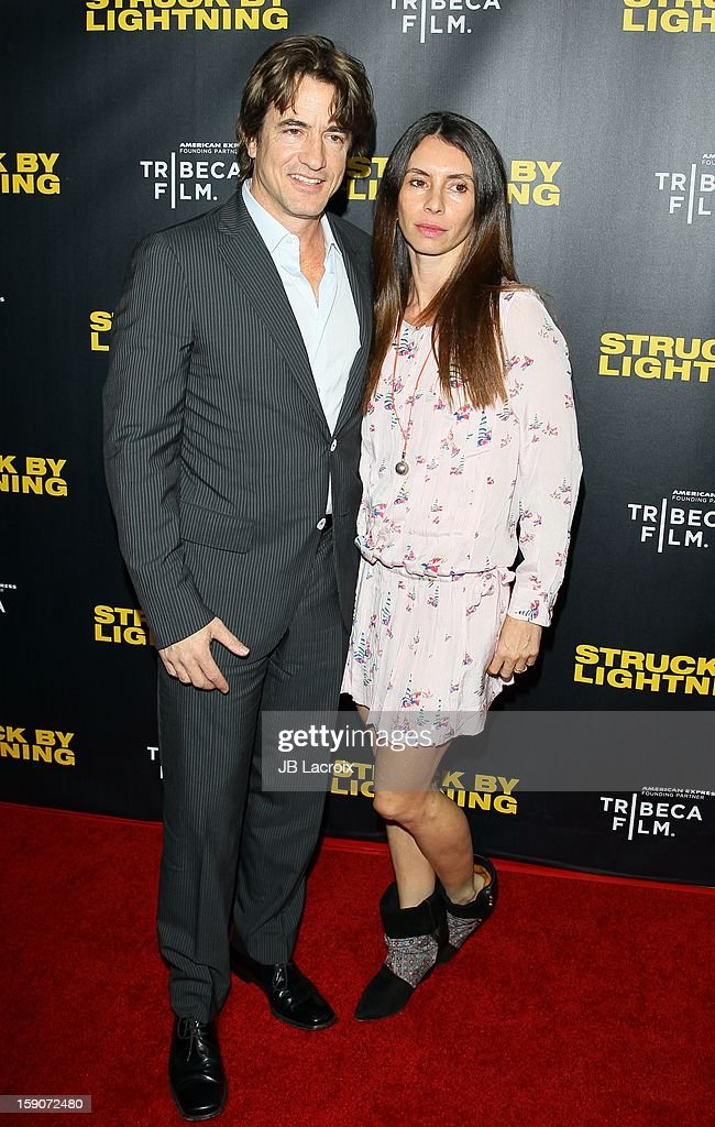 <a gi-track='captionPersonalityLinkClicked' href=/galleries/search?phrase=Dermot+Mulroney&family=editorial&specificpeople=208776 ng-click='$event.stopPropagation()'>Dermot Mulroney</a> and Tharita Catulle attend the 'Struck By Lighting' premiere held at Mann Chinese 6 on January 6, 2013 in Los Angeles, California.