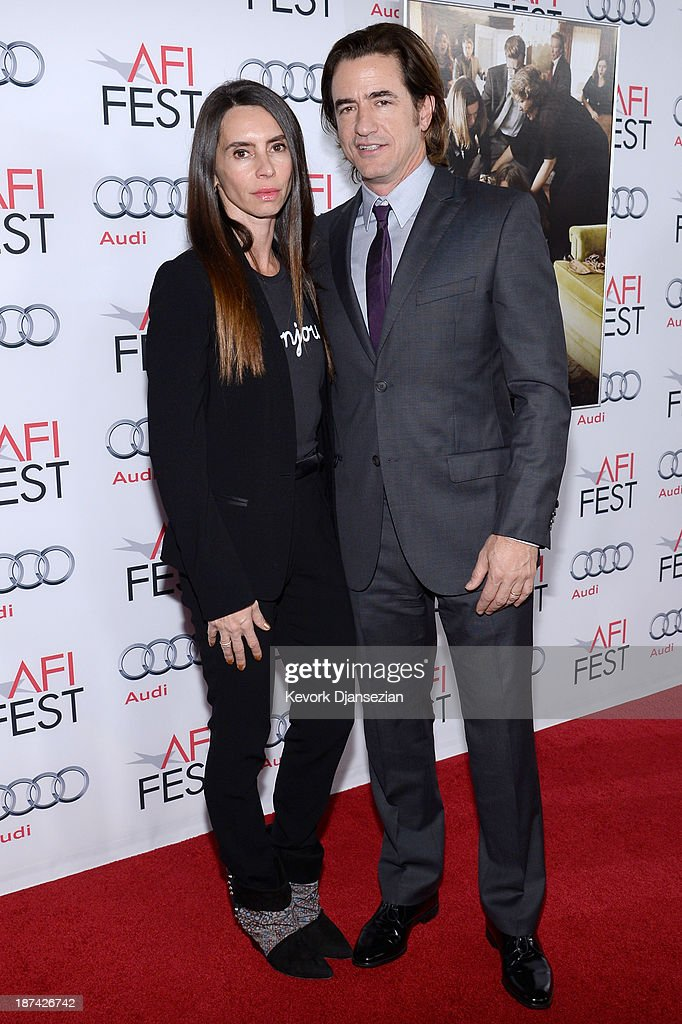 <a gi-track='captionPersonalityLinkClicked' href=/galleries/search?phrase=Dermot+Mulroney&family=editorial&specificpeople=208776 ng-click='$event.stopPropagation()'>Dermot Mulroney</a> and Tharita Cesaroni attend the premiere of The Weinstein Company's 'August: Osage County' during AFI FEST 2013 presented by Audi at TCL Chinese Theatre on November 8, 2013 in Hollywood, California.