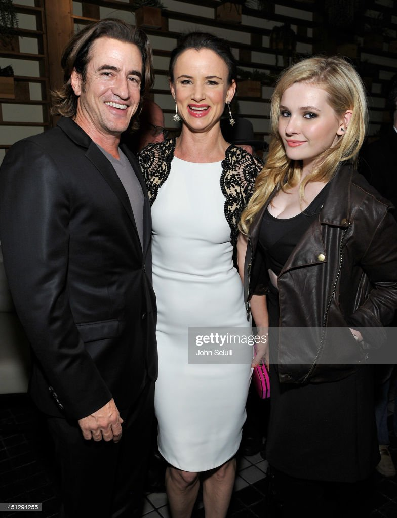 <a gi-track='captionPersonalityLinkClicked' href=/galleries/search?phrase=Dermot+Mulroney&family=editorial&specificpeople=208776 ng-click='$event.stopPropagation()'>Dermot Mulroney</a>, <a gi-track='captionPersonalityLinkClicked' href=/galleries/search?phrase=Juliette+Lewis&family=editorial&specificpeople=202873 ng-click='$event.stopPropagation()'>Juliette Lewis</a> and <a gi-track='captionPersonalityLinkClicked' href=/galleries/search?phrase=Abigail+Breslin&family=editorial&specificpeople=226628 ng-click='$event.stopPropagation()'>Abigail Breslin</a> attend the Weinstein Company's holiday party at RivaBella on November 21, 2013 in West Hollywood, California.
