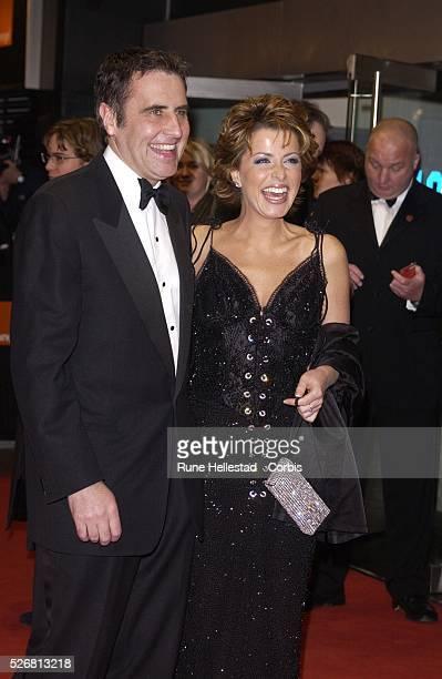 Dermot Murnaghan and Natasha Kaplinsky attend the 2003 BAFTA film awards
