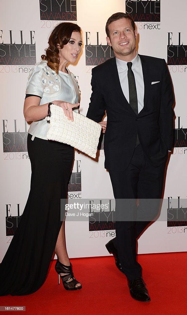 Dermot O Leary and Dee Koppang attend The Elle Style Awards 2013 at The Savoy Hotel on February 11, 2013 in London, England.