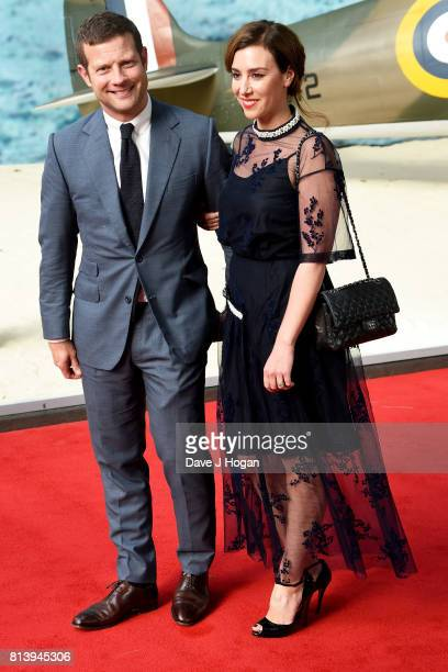 Dermot O'Leary and Dee Koppang attend the world premiere of 'Dunkirk' at Odeon Leicester Square on July 13 2017 in London England