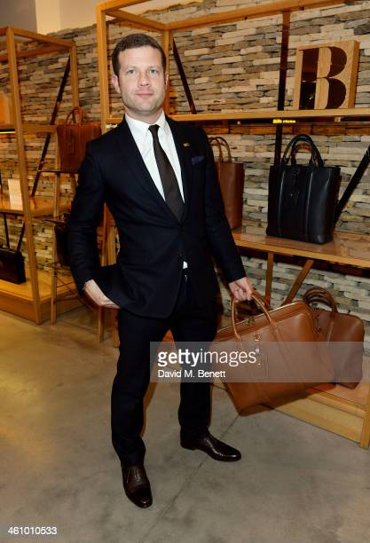 Dermot O'Leary attends a cocktail party hosted by Mulberry in its flagship store on New Bond Street in celebration of London Collections Mens and...