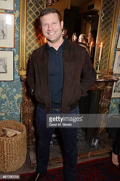 Dermot O'Leary attends the Esquire Jimmy Choo party the official launch party of London Collections Men AW15 at Marks Club on January 10 2015 in...
