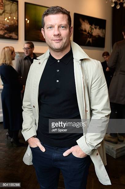 Dermot O'Leary attends the Hardy Amies presentation during The London Collections Men AW16 at The Arts Club on January 9 2016 in London England