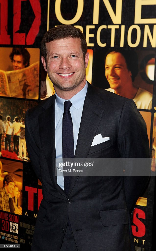 <a gi-track='captionPersonalityLinkClicked' href=/galleries/search?phrase=Dermot+O%27Leary&family=editorial&specificpeople=226772 ng-click='$event.stopPropagation()'>Dermot O'Leary</a> attends the World Premiere of 'One Direction: This Is Us 3D' at Empire Leicester Square on August 20, 2013 in London, England.