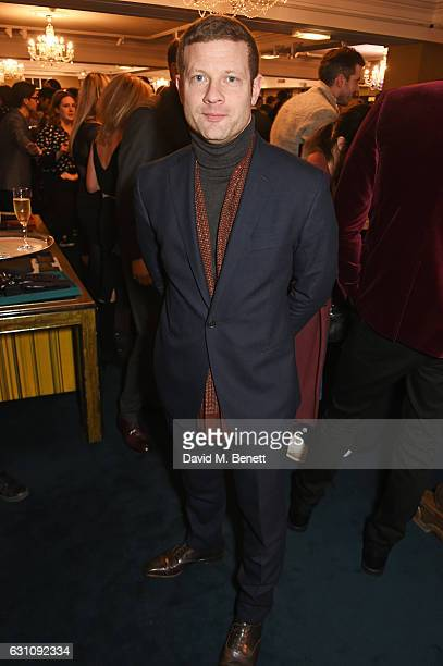 Dermot O'Leary celebrates the launch of London Fashion Week Men's with Esquire and Fortnum Mason on January 6 2017 in London England