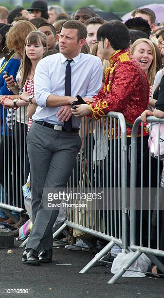 Dermot O'leary is seen at the XFactor excel auditions on June 21 2010 in London England
