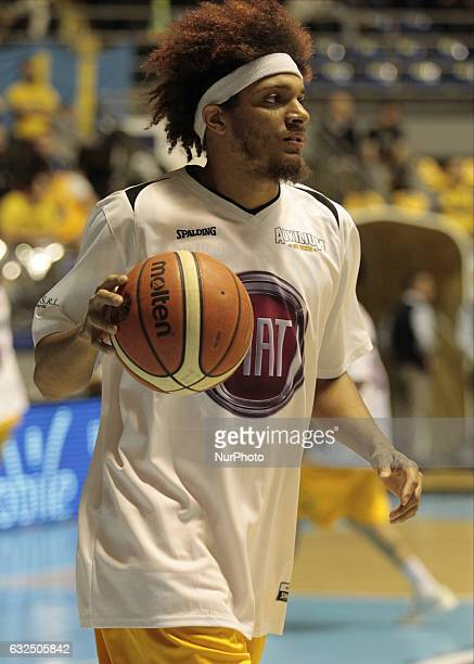 Deron Washington during Italy Lega Basket of Serie A match between Fiat Torino v Sidigas Avellino in Turin on january 22 2017