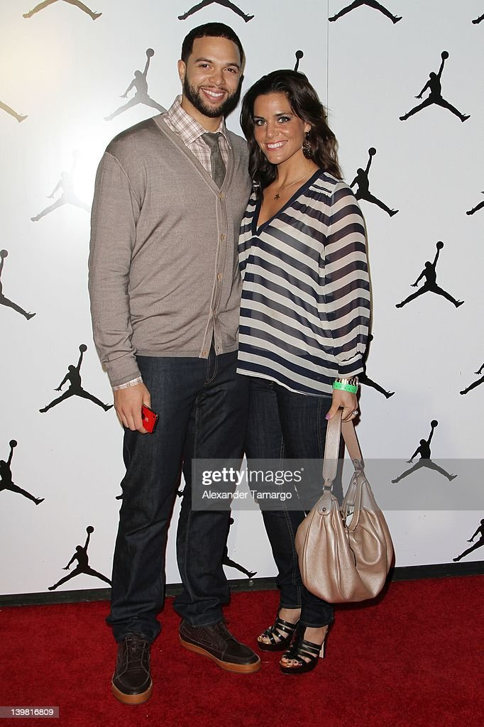 Deron Williams (L) and his wife attend Jordan All-Star With Fabolous 23 at Isleworth Golf & Country Club on February 25, 2012 in Windermere, Florida.