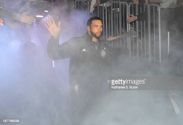 Deron Williams of the Brooklyn Nets comes out of the tunnel before playing the Chicago Bulls in Game Five of the Eastern Conference Quarterfinals...