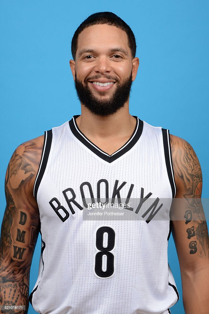 <a gi-track='captionPersonalityLinkClicked' href=/galleries/search?phrase=Deron+Williams&family=editorial&specificpeople=203215 ng-click='$event.stopPropagation()'>Deron Williams</a> #8 of the Brooklyn Nets poses for a portrait during media day on September 26, 2014 at the PNY Center in East Rutherford, New Jersey.