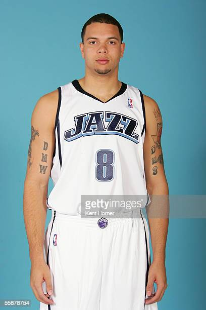 Deron Williams of the Utah Jazz poses for a portrait during NBA Media Day on October 3 2005 at the Jazz Practice Facility in Salt Lake City Utah NOTE...